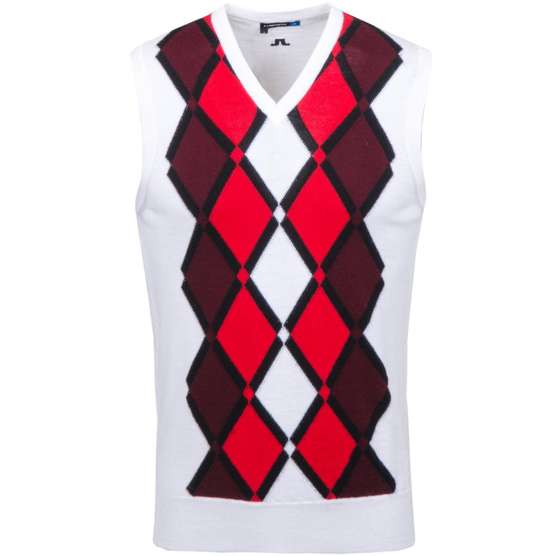 J. LINDEBERG  Mens - LTD EDITION TRU 100% MERINO SWEATER VEST - WHITE