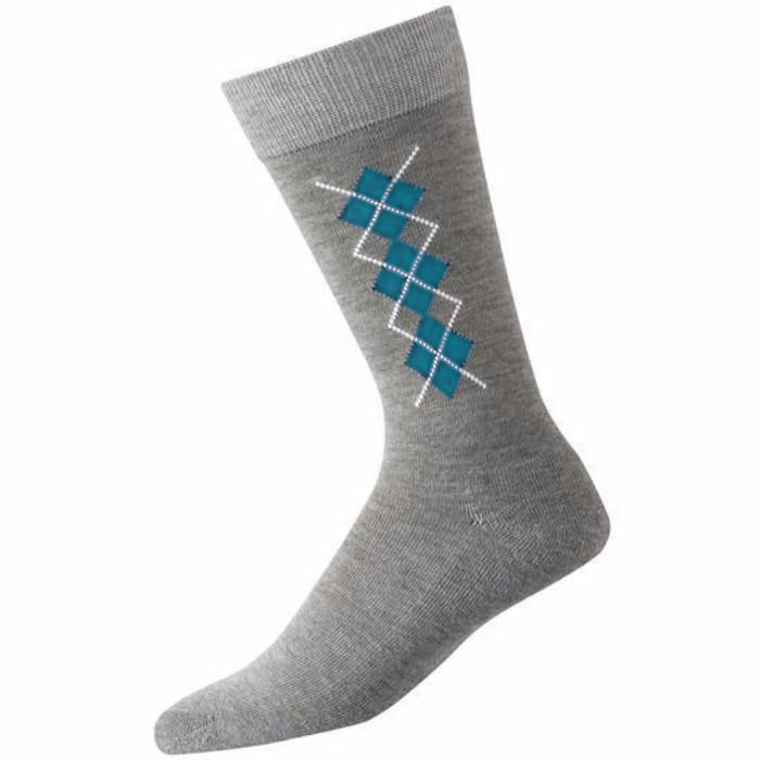 FJ Men's Ltd Edition ProDry Crew Sock - TEAL / GREY / WHITE
