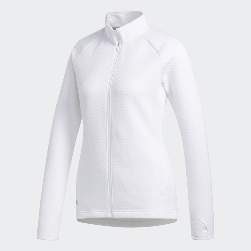 Adidas Womens Textured Layer Jacket - WHITE (PRE-ORDER)