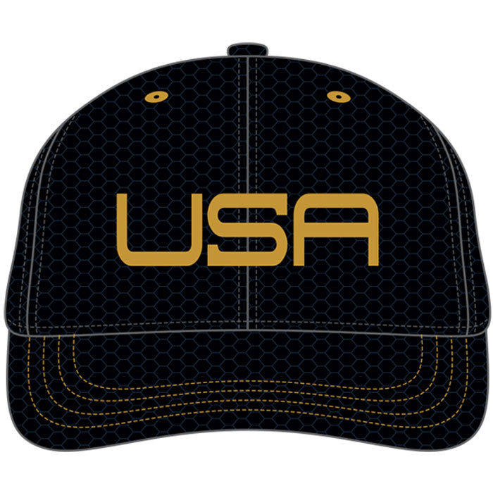 USA LTD EDITION PRO FITTED TOUR HATS - BLACK/GOLD