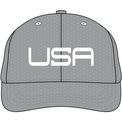 USA LTD EDITION PRO FITTED TOUR HATS -  GRAY/WHITE