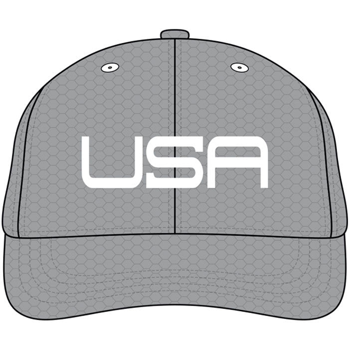 USA LTD EDITION PRO FITTED TOUR HATS - GRAY WHITE - Golf Anything US 2fc58da6b2a2