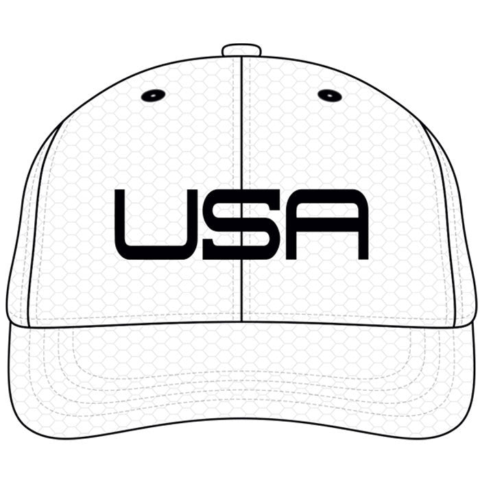 USA LTD EDITION PRO FITTED HATS - WHITE BLACK - Golf Anything US e80ab38147dd
