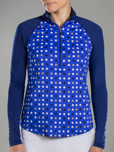 JoFit Long Sleeve Mock- Multi Dot