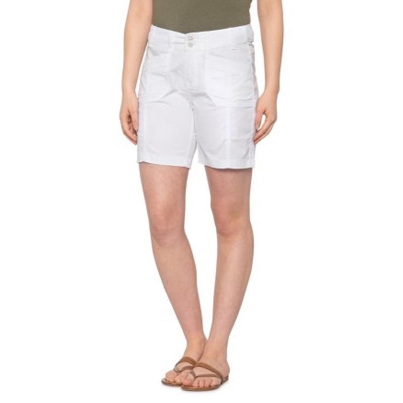 Womens Catwalk Shorts - Cotton/Spandex - White