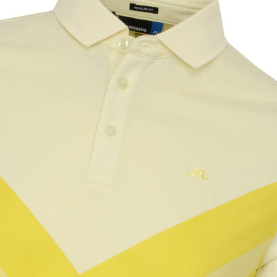 J.LINDEBERG Mens M ACE REG FIT TX JAQUARD POLO SHIRT - PALE LIME