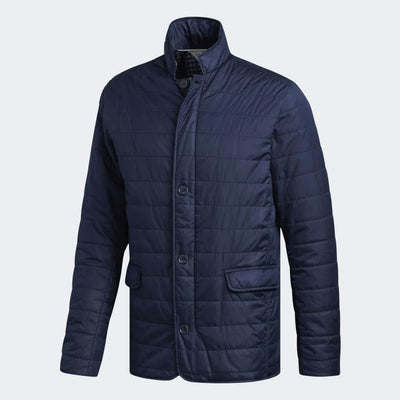 adidas MENS GOLF ADIPURE INSULATED QUILTED JACKET - NAVY
