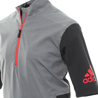 Adidas Mens Golf ClimaProof Waterproof Short Sleeve Rain Jacket