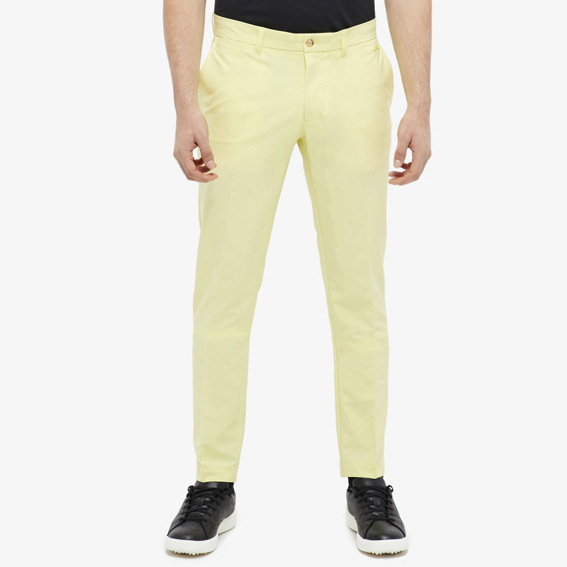 J Lindeberg Men's Ellott Reg Fit Micro Stretch Pants - STILL YELLOW