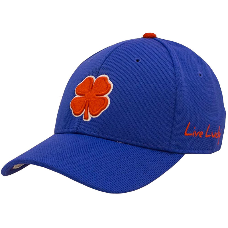 Black Clover Live Lucky Premium A-FLEX Fitted Hat - RED/WHITE/ROYAL