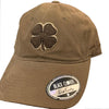 Black Clover Twill Adjustable Hat - Brown - Brown Clover - Beige Trim