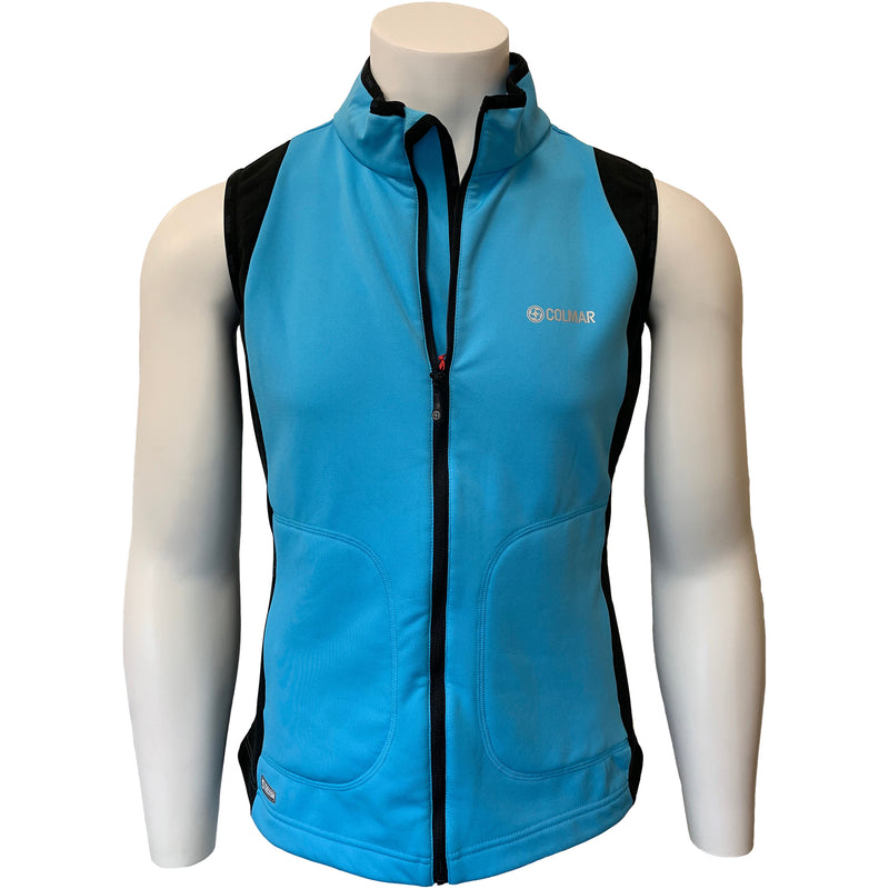 Colmar Men's Full Zip Thermotec Vest - Blue/Black