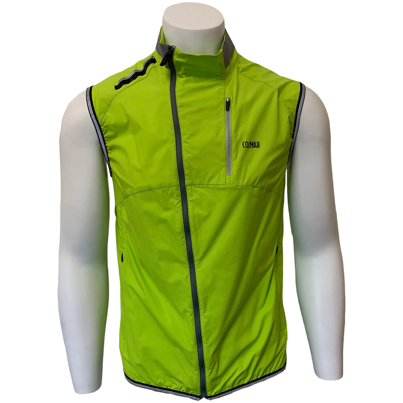 Colmar Men's Full Zip Vest - Lime Green