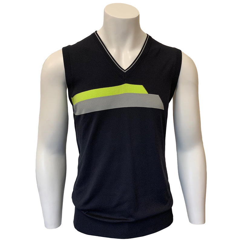 Colmar Men's Vest - Black - Grey - Lime