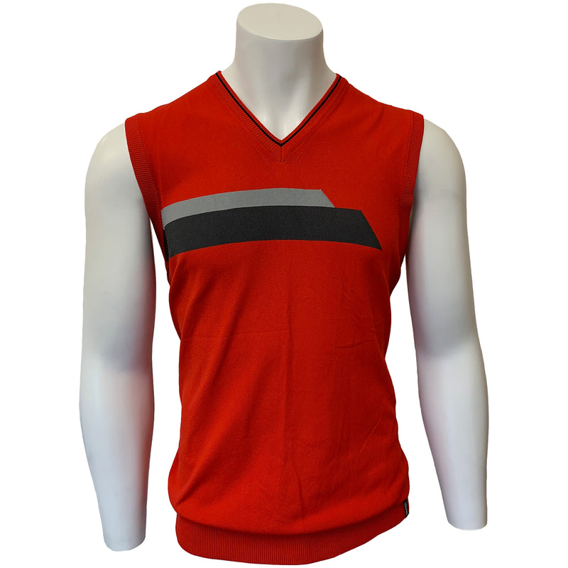 Colmar Men's Vest - Red - Black-Grey