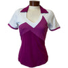 Catwalk Charlotte Relaxed Short Sleeve Golf Top - Berry