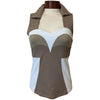 Catwalk Bella Sleeveless Golf Top - Sand