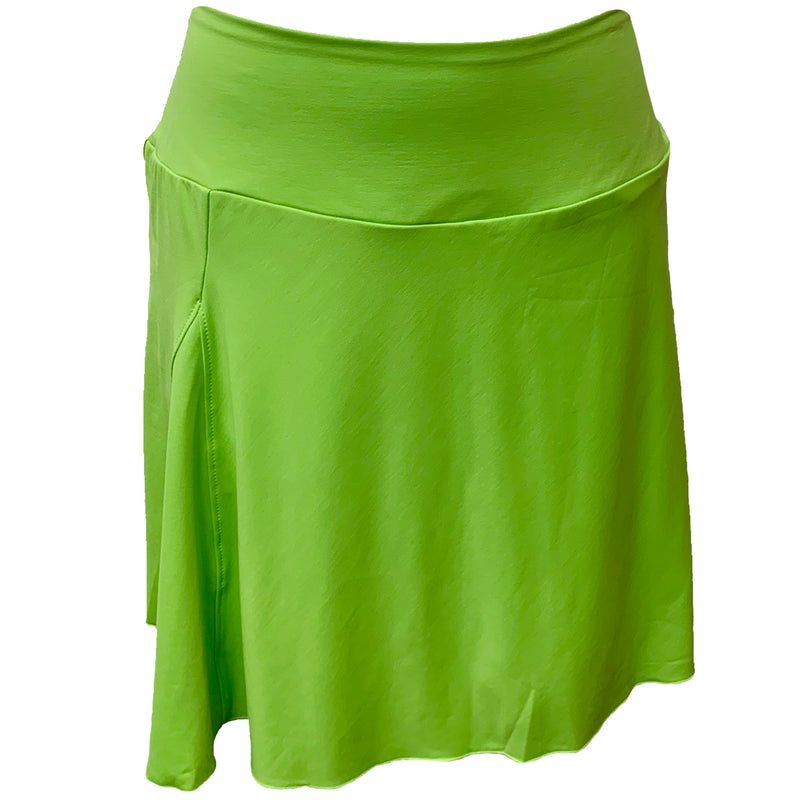 Catwalk A-Line Knit Skort - Lime