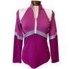 Catwalk Irena Long Sleeve Relaxed Fit Golf Top - Berry