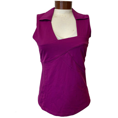 Catwalk Stacey Relaxed Sleeveless Top - Dark Berry
