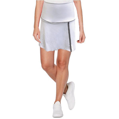 Womens Catwalk Piper Knit Skort - White - SKPL13