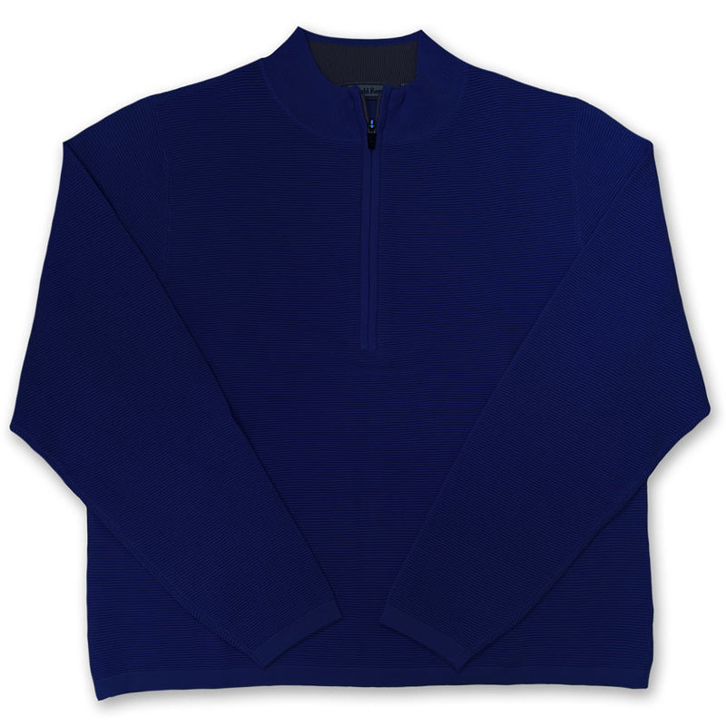 Donald Ross Cotton Long sleeve 1/2 zip pullover - NAVY