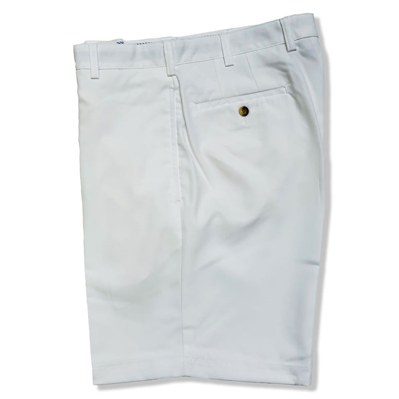 Donald Ross Flat Front Classic Walk Short - WHITE