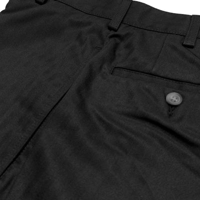 Donald Ross Flat Front Classic Walk Short - BLACK