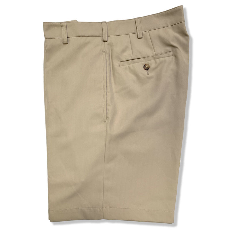Donald Ross Flat Front Classic Walk Short - KHAKI