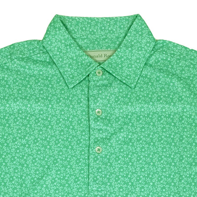 Donald Ross Mens Floral Print Polo - IVY