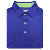 Mens Short Sleeve Solid Jersey SELF Collar - ATLANTIC MINT
