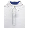 Mens Short Sleeve Solid Jersey SELF Collar - WHITE ATLANTIC