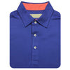 Mens Short Sleeve Solid Jersey SELF Collar - ATLANTIC CORAL