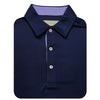 Mens Short Sleeve Solid Jersey SELF Collar - NAVY JUNIPER