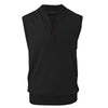 Donald Ross Mens 1/2 Zip 100% Merino Wool Vest - CHARCOAL