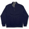 Donald Ross Womens 1/2 Zip Pullover With 2 Pockets Long Sleeve - NAVY
