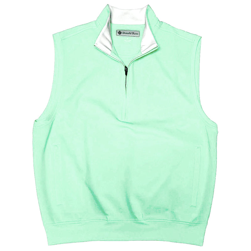 Donald Ross Mens 1/2 Zip Pullover With 2 Pockets VEST  - SEA FOAM