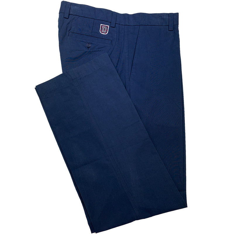 Dunning Cotton/CoolMax Polyester Pleat Pant - NAVY