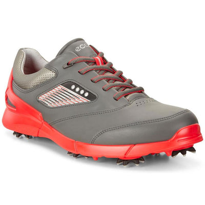 ECCO MENS GOLF BASE ONE HM - DARK SHADOW/SCARLET - In Stock