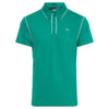 J.LINDEBERG Mens - TOMI REG LUX PIQUE - GOLF GREEN