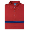 Dunning Slim Fit Interface Pique Vintage Stripe Polo - Red