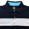 FootJoy Smooth Pique Mens Golf Polo Shirt Previous Season Navy - White