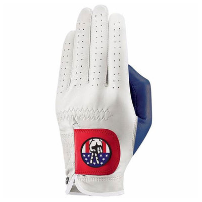 G/Fore Women's Left SPECIAL EDTION LIBERTY GOLF GLOVE - White/Scarlet
