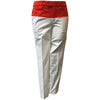 G/Fore Women's Fit Stretch Straight Leg Trouser - White/Orange