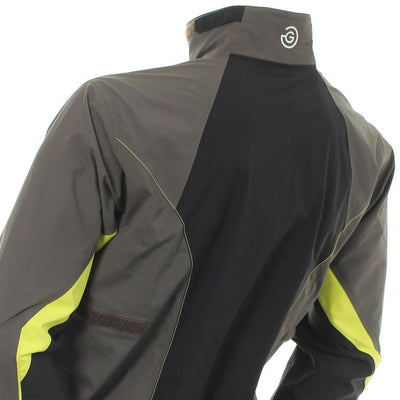 Galvin Green Mens Armando Gore-Tex Waterproof Golf Jacket - BELUGA/BLACK/LEMONADE