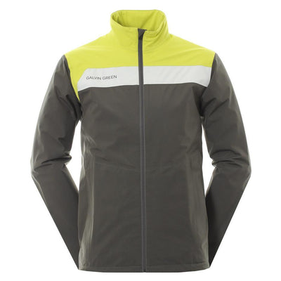 Galvin Green Mens Austin Gore-Tex Waterproof Golf Jacket - BELUGA/LEMONADE