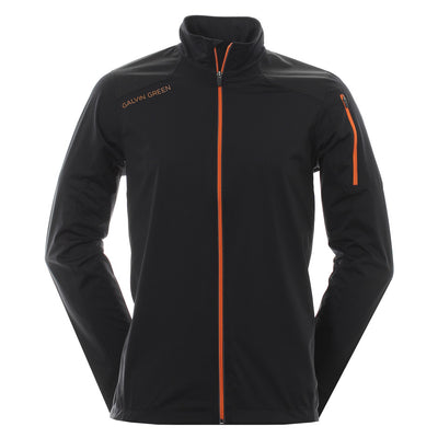Galvin Green Mens Lance Interface-1 Windproof Jacket - BLACK/ ORNAGE