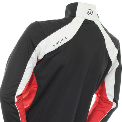 Galvin Green Mens Lennox Gore Interface-1 Golf Pullover - BLACK/WHITE/RED