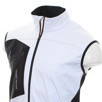 Galvin Green Mens Lenny Gore Interface-1 Golf Body Warmer - WHITE