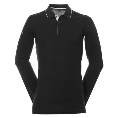 Galvin Green Mens MARC VENTIL8™ PLUS Long Sleeve Polo - BLACK